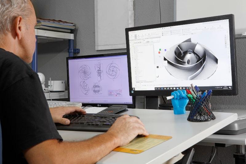 Servicio integral de análisis y diseño de piezas especiales